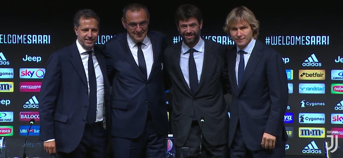 Maurizio Sarri unveiled as new Juventus manager