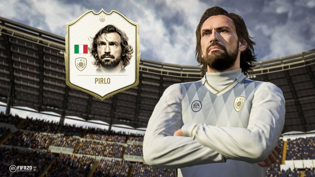 Andrea Pirlo is the first ICON card to be named in FIFA 20