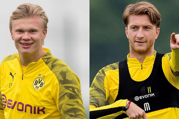 Erling Haaland & Marco Reus are back in training for Dortmund