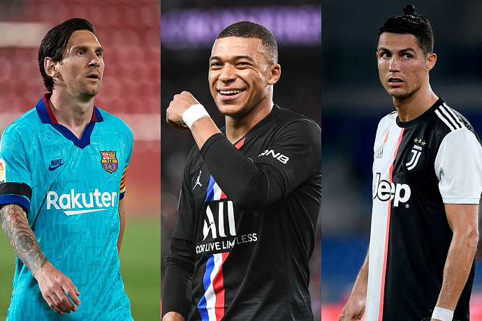 Ronaldo chooses his top four greatest players and dream signing feat. Mbappe, Messi and Cristiano