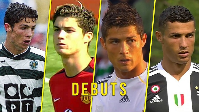 VIDEO: Cristiano Ronaldo's debut with all his football clubs