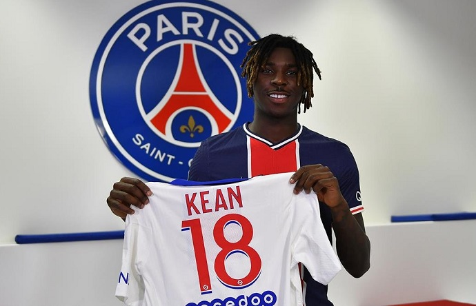 PSG have signed Moise Kean on a season long from Everton.