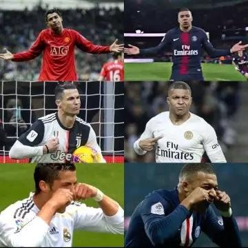 Mbappe and Cristiano similar celebrations