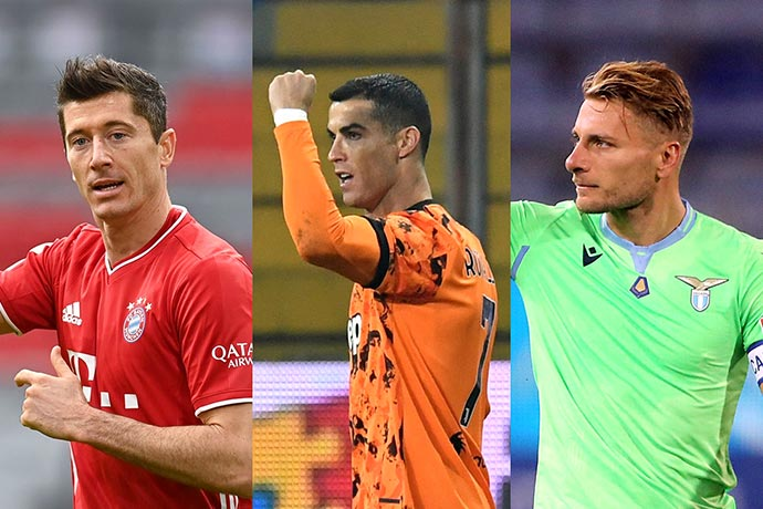 10 players who have scored most goals in League in 2020 feat. Ronaldo