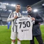 Video: Cristiano honored by Juventus after reaching a historic milestone