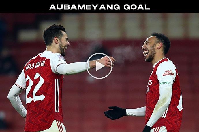 Video: Aubameyang Goal against Newcastle   Arsenal 2-0 Newcastle