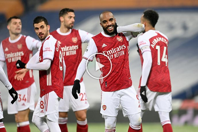 Video: Lacazette Two Goals against West Brom   West Brom 0-4 Arsenal