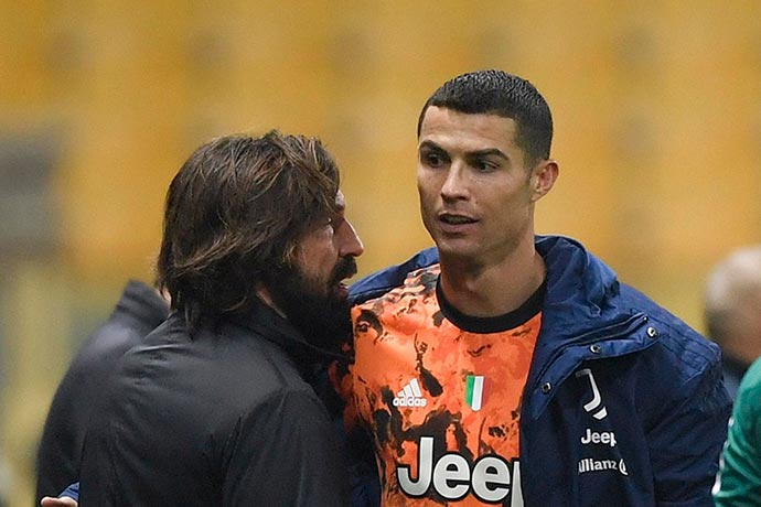 Andrea Pirlo admits to Cristiano Ronaldo-reliance at Juventus