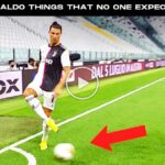 Video: Cristiano Ronaldo Ridiculous Things That No One Expected