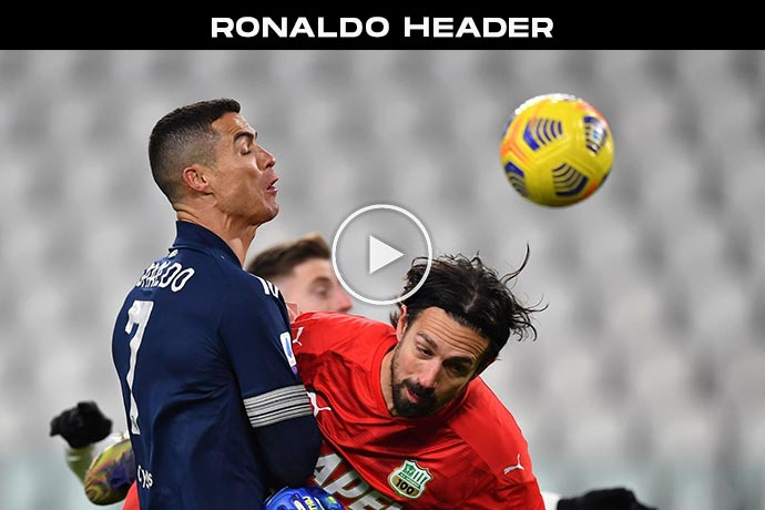 Video: Cristiano Ronaldo Out Jumps Goalkeeper with gravity defying leap!
