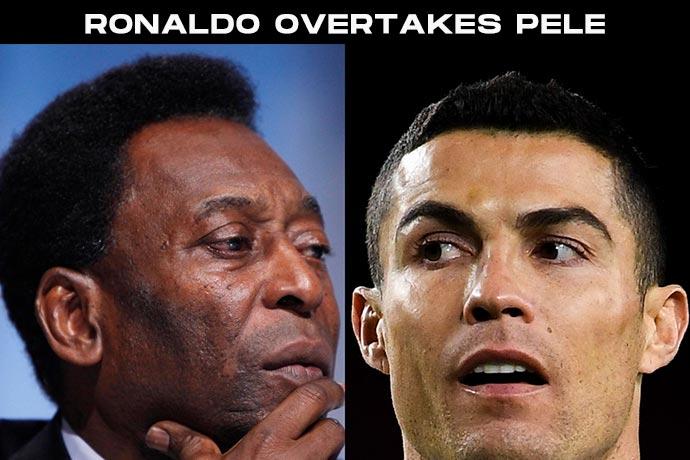 Ronaldo breaks Pele's goal scoring record