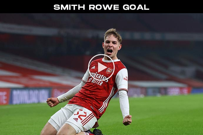 Video: SMITH ROWE Goal against Newcastle   Arsenal 1-0 Newcastle