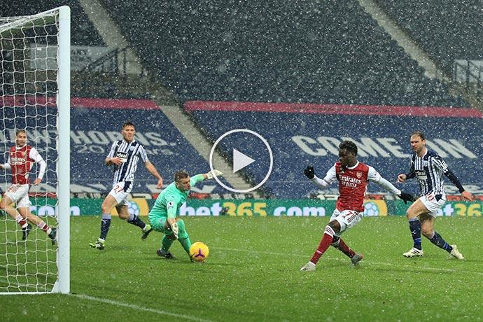 Video: Saka Goal against West Brom   West Brom 0-2 Arsenal
