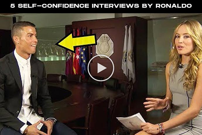 Video: 5 Self-Confidence Interviews By Cristiano Ronaldo That Nobody Would Dare To Say