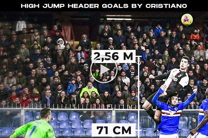 Video: 10+ High Jump Header Goals by Cristiano Ronaldo