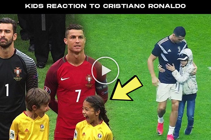 Video: Kids Reaction to Cristiano Ronaldo