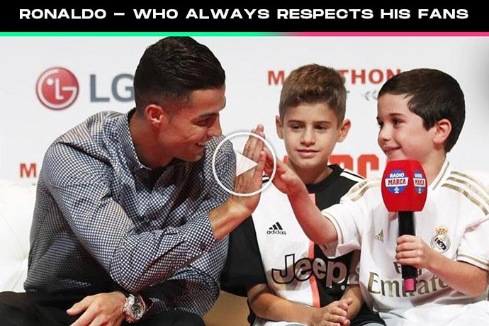 Video: Cristiano Ronaldo: the superstar who always respects his fans
