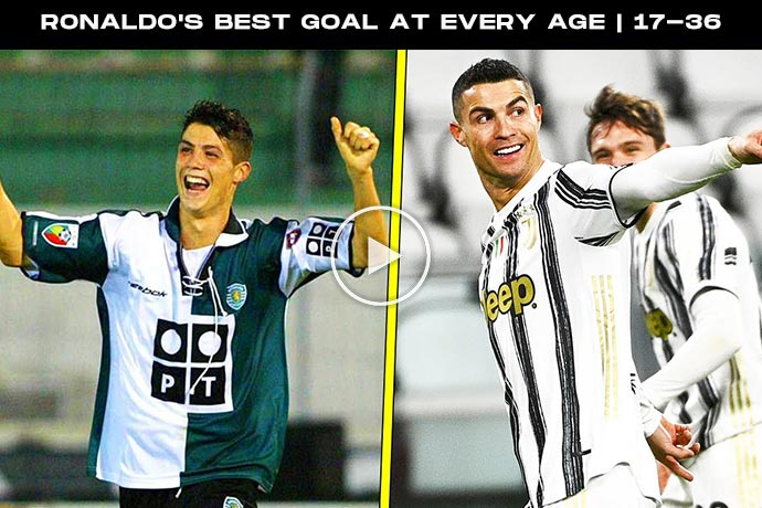 Video: Cristiano Ronaldo's Best Goal At Every Age   17-36