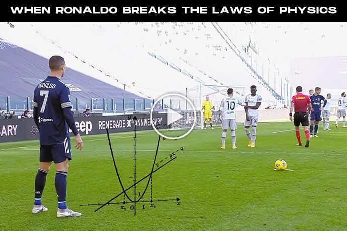 Video: When Cristiano Ronaldo Breaks the Laws of Physics