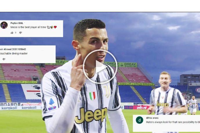 Video: How Cristiano Ronaldo Reacts to Criticism
