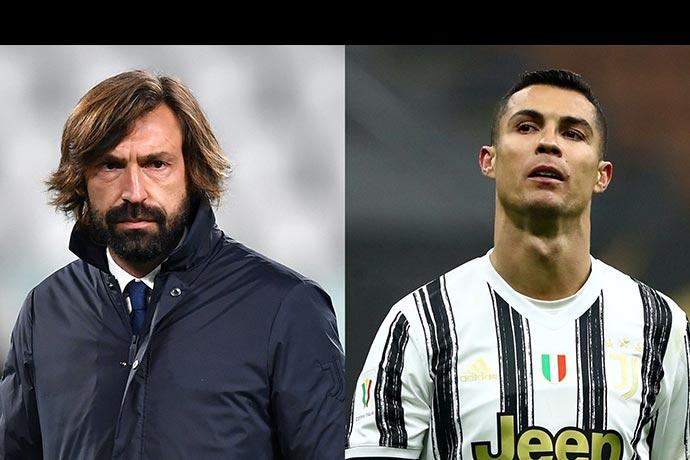 Pirlo responds to Cristiano Ronaldo's exit tales at Juventus