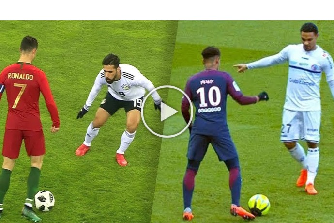 Video: Cristiano Ronaldo vs Neymar Jr ● Top 10 Skills | HD