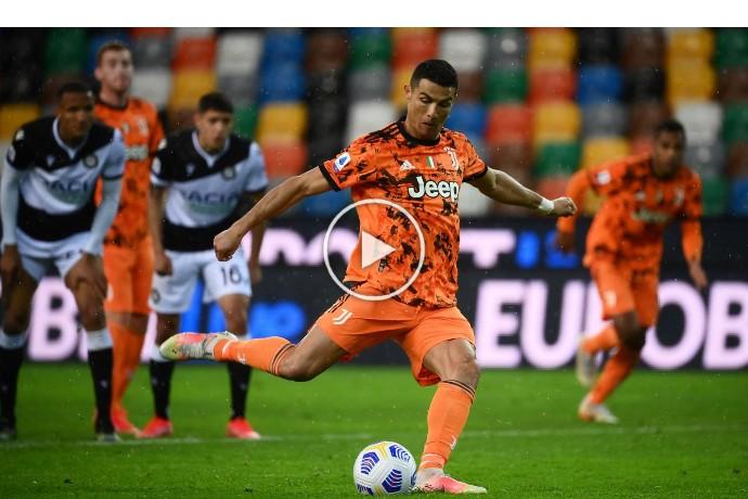 Video: Cristiano Ronaldo Penalty Goal against Udinese