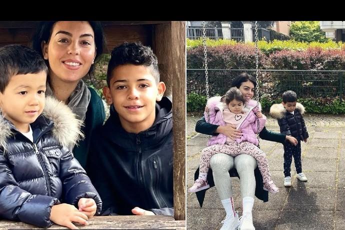 Video: Cristiano Ronaldo Enjoys a Day With Girlfriend Georgina and Kids – 2021