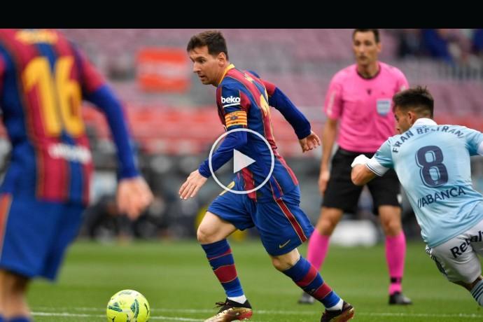 Video: Lionel Messi goal against Celta Vigo | Barcelona 1-1 Celta Vigo