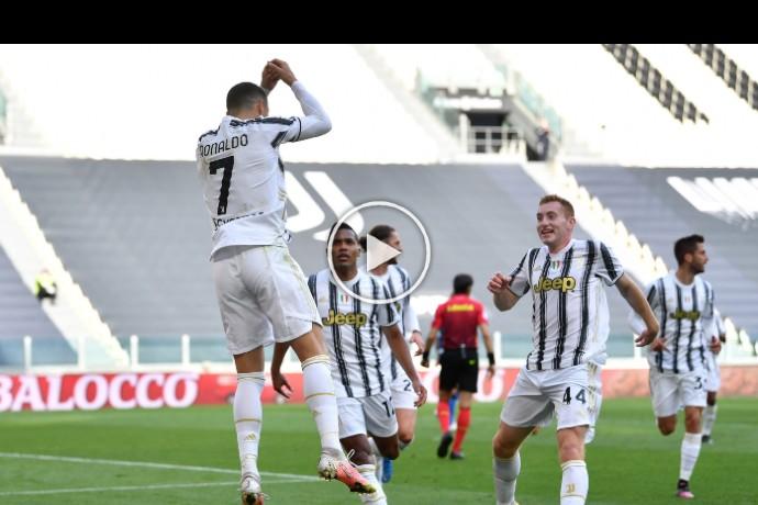 Video: Cristiano Ronaldo goal against Inter Milan   Juventus 1-0 Inter Milan