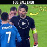 What happens if goalkeeper Buffon challenges Ronaldo?