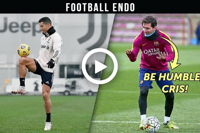 (Video) Watch Who trains better: Cristiano Ronaldo or Lionel Messi 2021