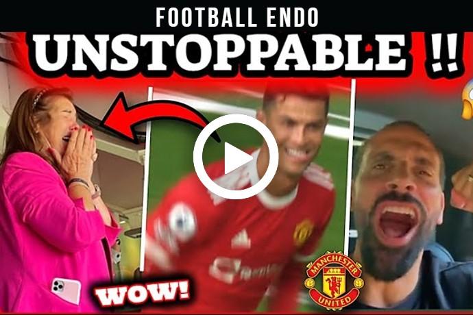 Video: CRISTIANO RONALDO & MAN UNITED CRAZY REACTIONS AFTER SCORING TWICE VS NEWCASTLE
