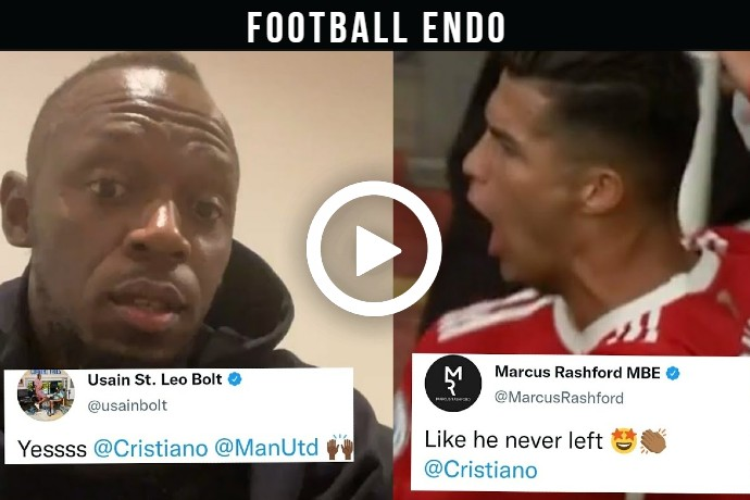 Video: Celebrities React To Cristiano Ronaldo Debut & First Goal On His Return For Man Utd! [Newcastle]