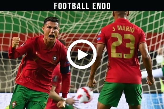 Video: Cristiano Ronaldo Amazing Header Goal Against Ireland