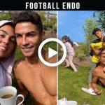 Video: Cristiano Ronaldo and Georgina Rodriguez with children happy sunny day in Manchester